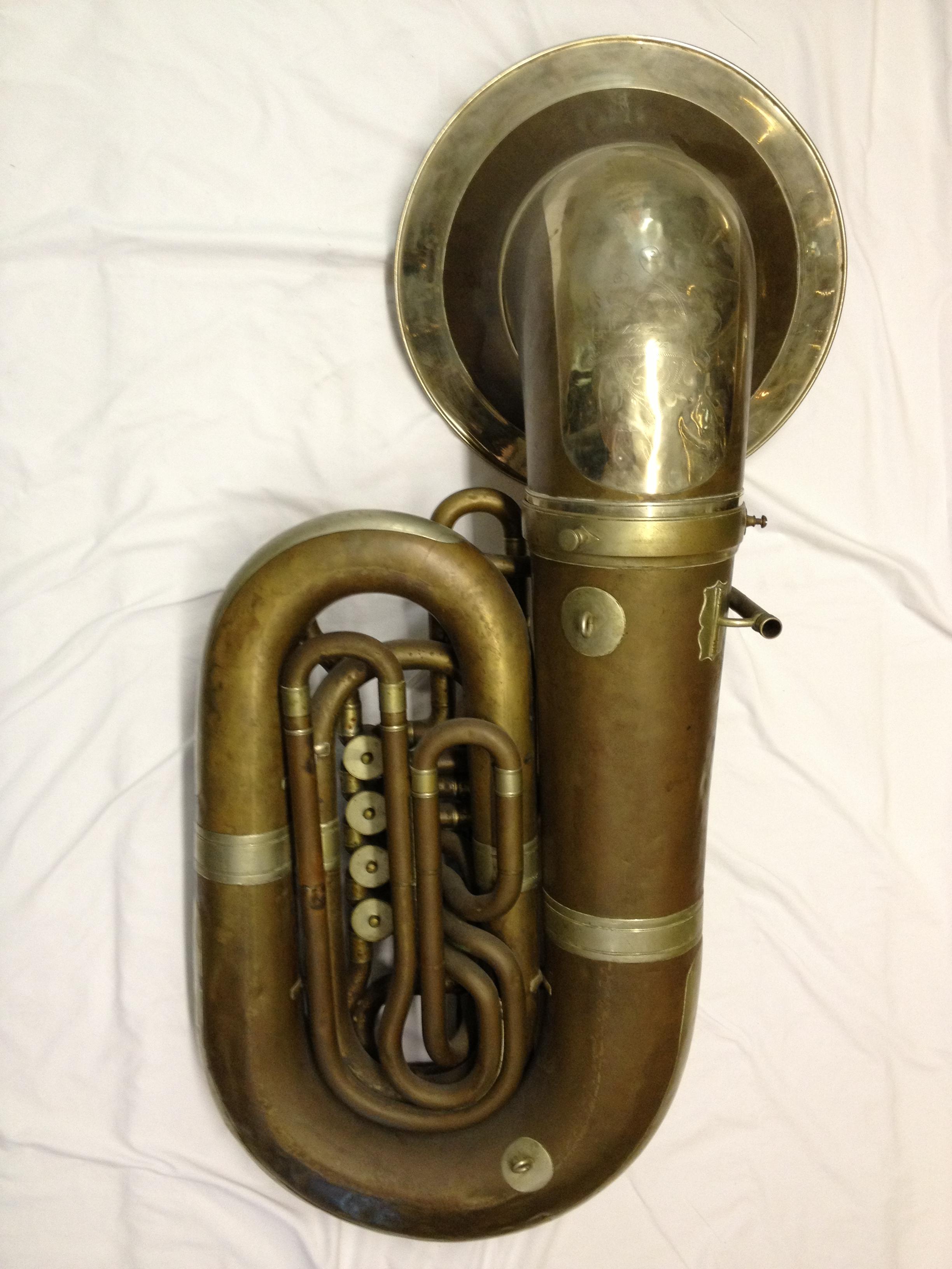 Huttl, BB flat tuba, recording bell, 4 rotor, c.1930 | V ...